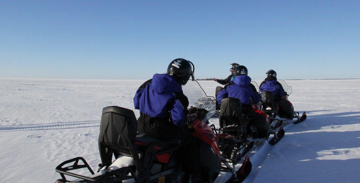 Ice-fishing trip by snowmobiles - Sea Lapland Safaris